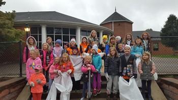 The Y-Princesses in front of Memorial School