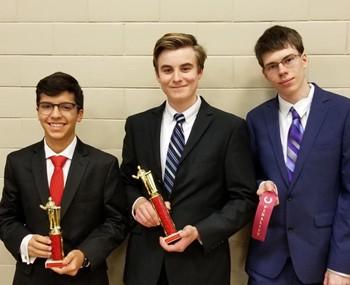 The three USC Tournament award-winning students