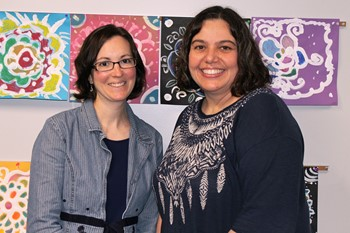 Mrs. Gallaher and Mrs. Luzader