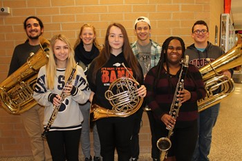 District Band musicians