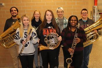 District Band musicians