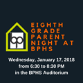 Eighth Grade Parent Night Logo