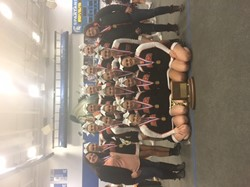 BPHS Cheerleaders with their WPIAL Championship trophy