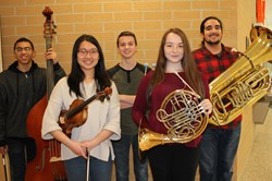 BPHS District Orchestra musicians
