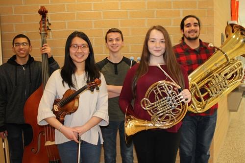 BPHS Region Orchestra musicians