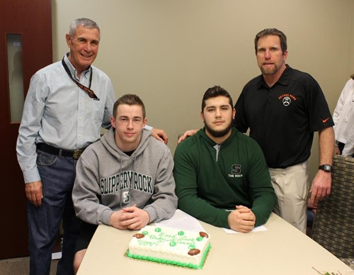 BPHS football players with Coach Metheny