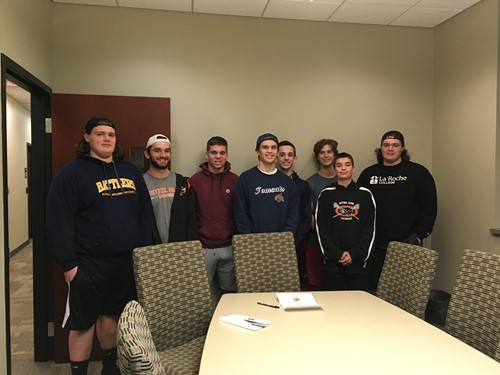 Anthony Richards and his lacrosse teammates