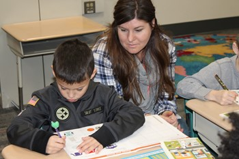 BPHS students work with Franklin students on JA Day