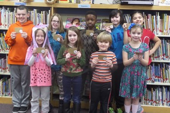 Penn winning students on the 100th day of school