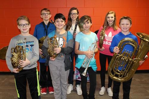 NAMS Elementary Band Fest Musicians
