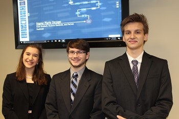 Students with their EAFab projects