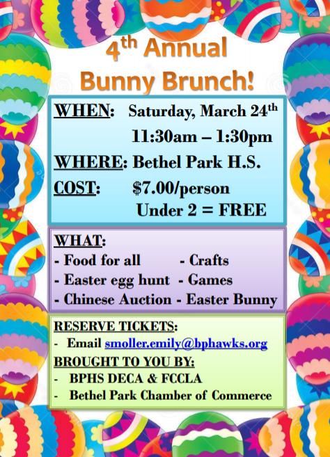 Bunny Brunch flyer