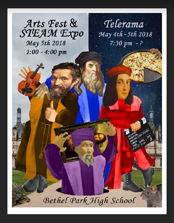 Arts Fest and STEAM Expo logo
