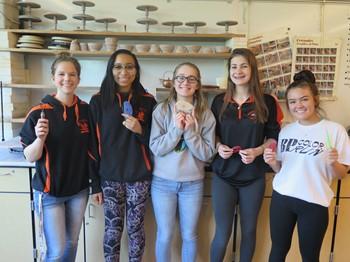 BPHS Ceramics Exhibit students
