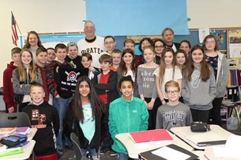 Kent Tekulve and Mr. Bergman's Second Period Spanish Class