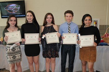 Five new French Honor Society inductees