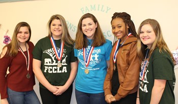 Five of the seven BPHS FCCLA award winning students