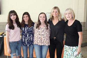 BPHS Girls Tennis Team members and their coach