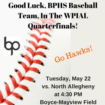 BPHS Baseball Playoff Logo