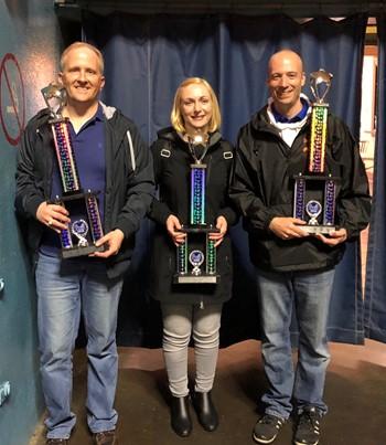 Three teachers with awards