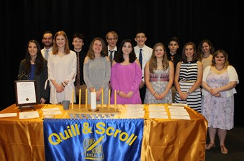 14 of the 15 Quill and Scroll Inductees
