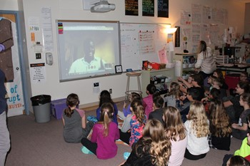 Franklin Fourth Graders Video Chat with a Teacher from Africa