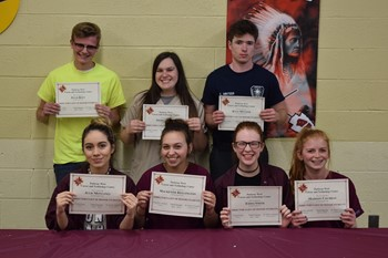 Seven of the eight 3rd Quarter Director's List students