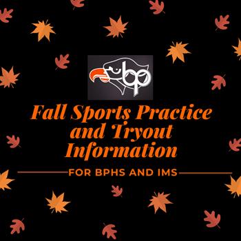 Fall Sports Tryout Info Logo