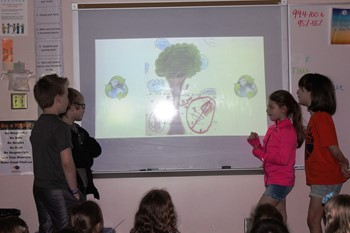 Four students present their Conserve Presentation