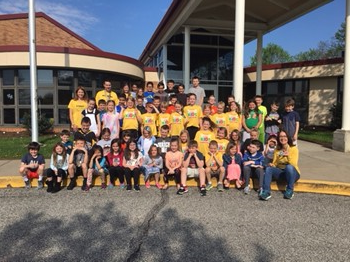 The students who participated in the 2018 Franklin Flyers Program