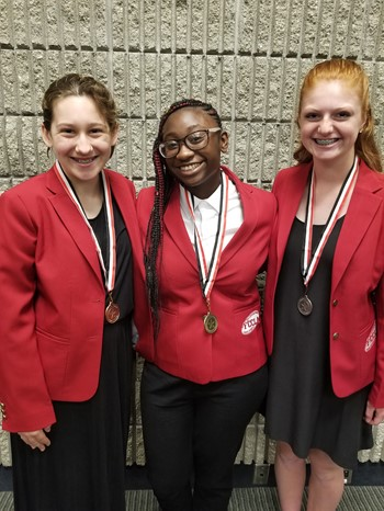 The three National FCCLA Award Winners
