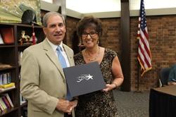 Joe Consolmagno and School Board President Donna Cook