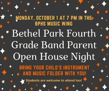 Fourth Grade Band Parent Night Logo