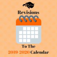 Revisions to the 2019-2020 Calendar logo