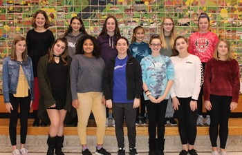 The 13 IMS students who participated in the Go Red Go STEM program