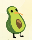 avocado cartoon figure