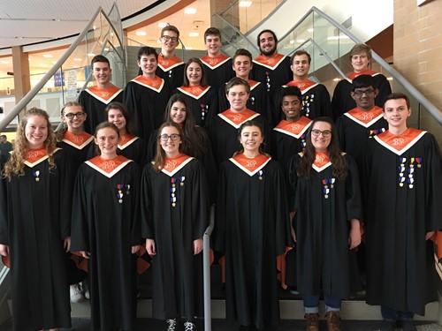 21 of the 22 Region Chorus Students