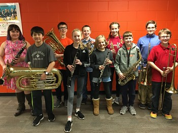 The 10 NAMS Band Fest Students