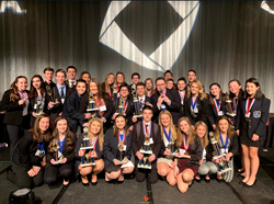The BPHS DECA students who won awards and medals at the State Conference