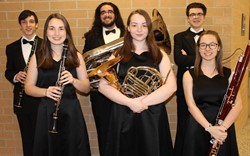 The six BPHS Region Band Musicians