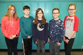 The five students on the Second Place Science Bowl Team