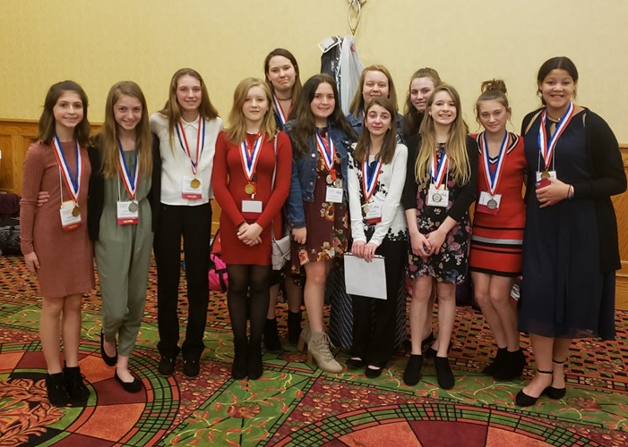 The students who medaled at the FCCLA State Competition