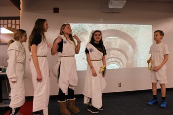 Five students in the cast of Orpheus and Eurydice