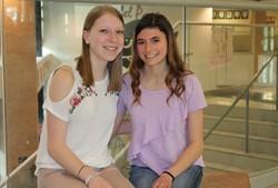 Madelyn Marzina and Jenna Chernicky