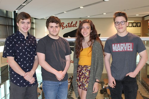 The four BPHS students who scored high on the National Latin Exams