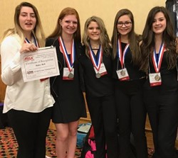 The BPHS FCCLA State Medalists