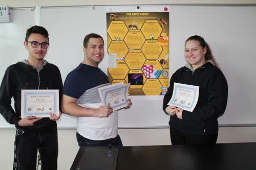 Three of the BPHS Award-Winning Students