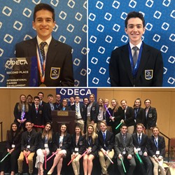 BPHS Competitors and Top Finishers at the DECA International Competition