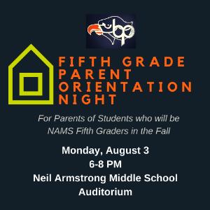 Fifth Grade Parent Orientation Logo