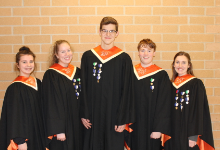 The five All-State Chorus vocalists